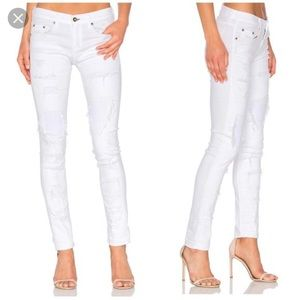 Rag & Bone Distressed White Jeans